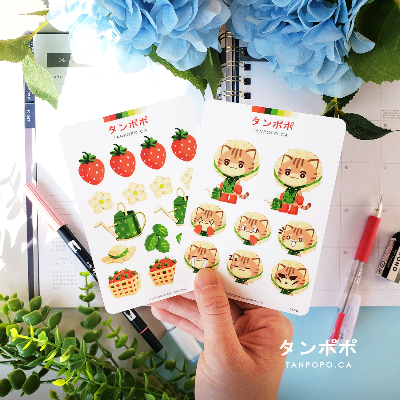 Strawberry Farmer - Vinyl Sticker Sheets