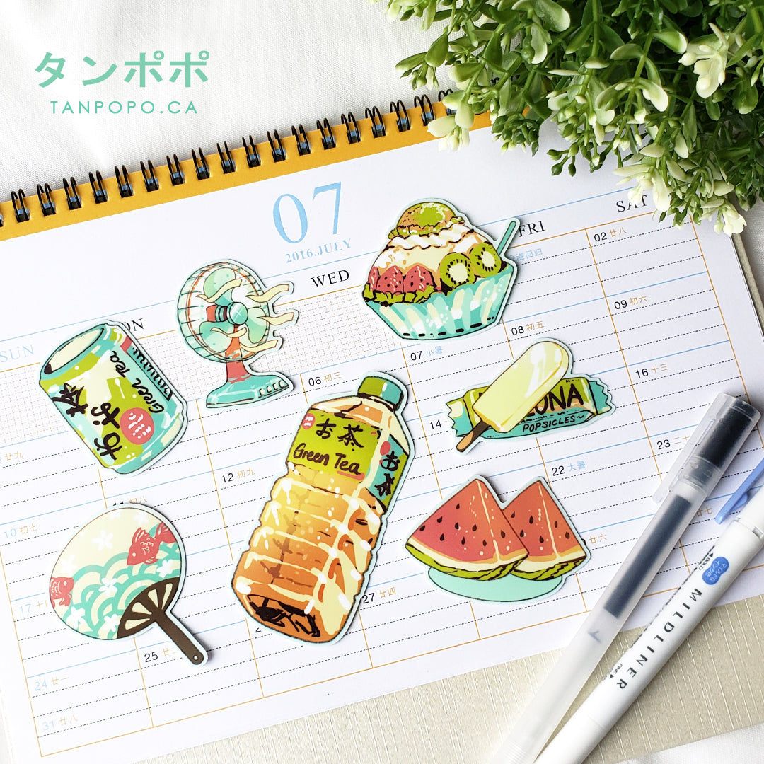 Summer Days Vinyl Sticker Pack