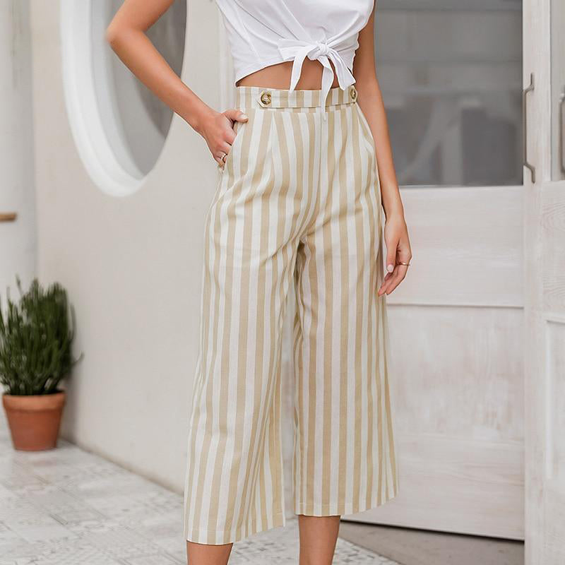 Awning Striped Wide Leg Pants