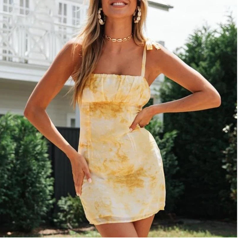 Lemon Pie Tie Dye Bodycon Dress