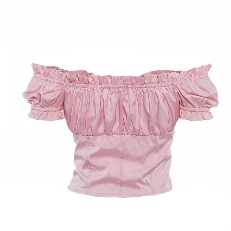 Ruffle Bowknot Crop Top