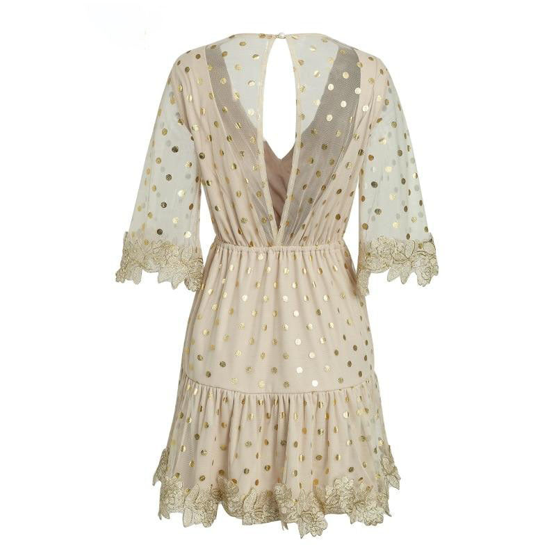 The Angel Dot Sheer Mini Dress