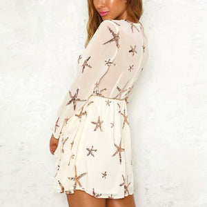 Starfish Sequin Sash Mini Dress