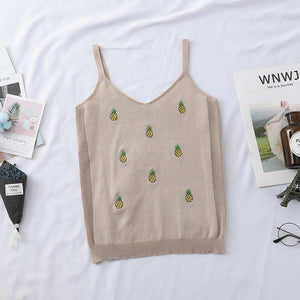 Sweet Pineapple Knitted Top