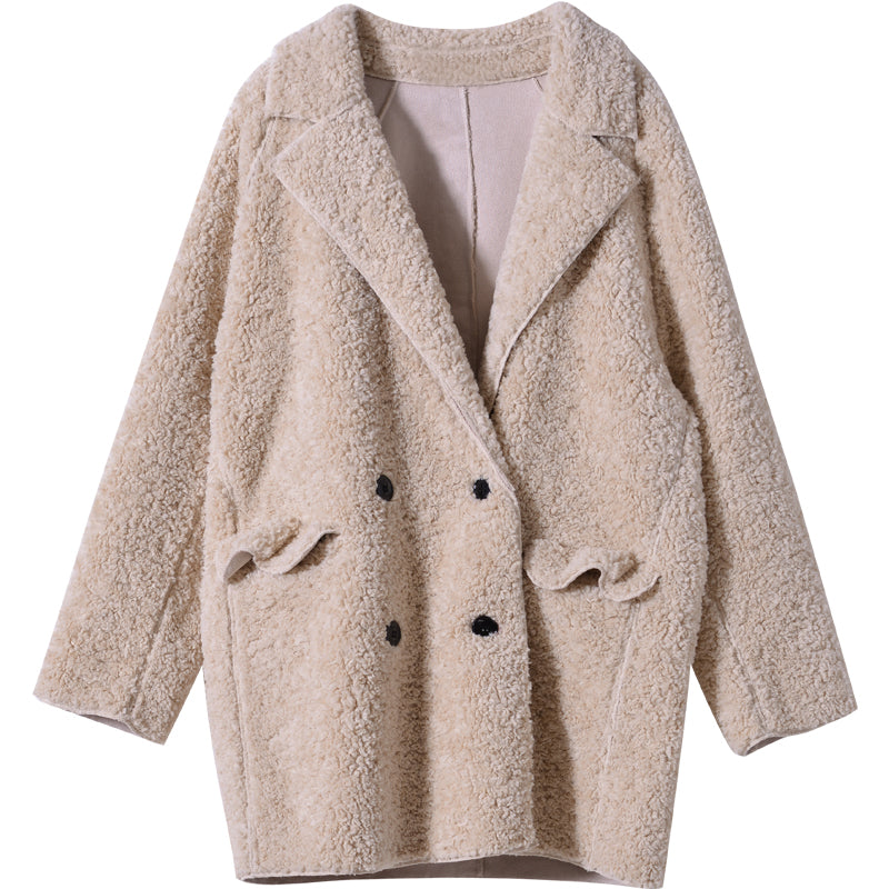 The Cloud Fleece Lapel Coat