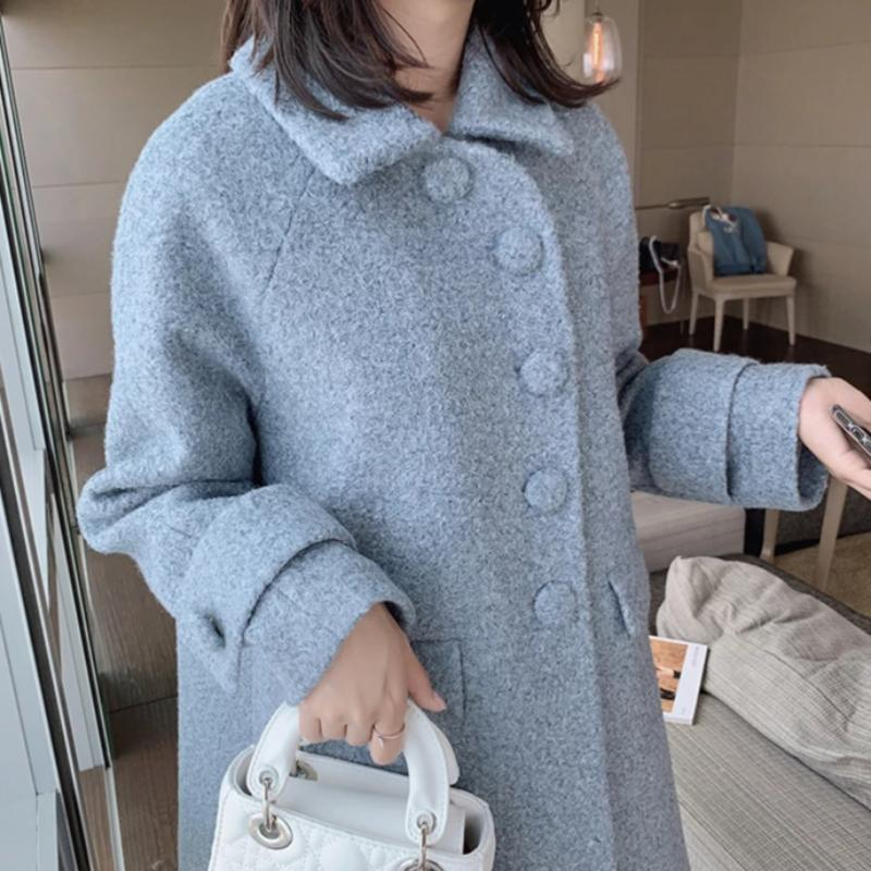 Peter Pan Collar A-line Coat