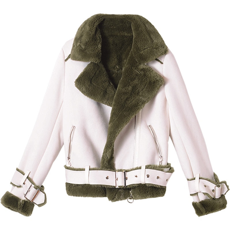 Two Tone Inside Out Teddy Jacket