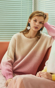 Pink Tint Soft Gradient Sweater