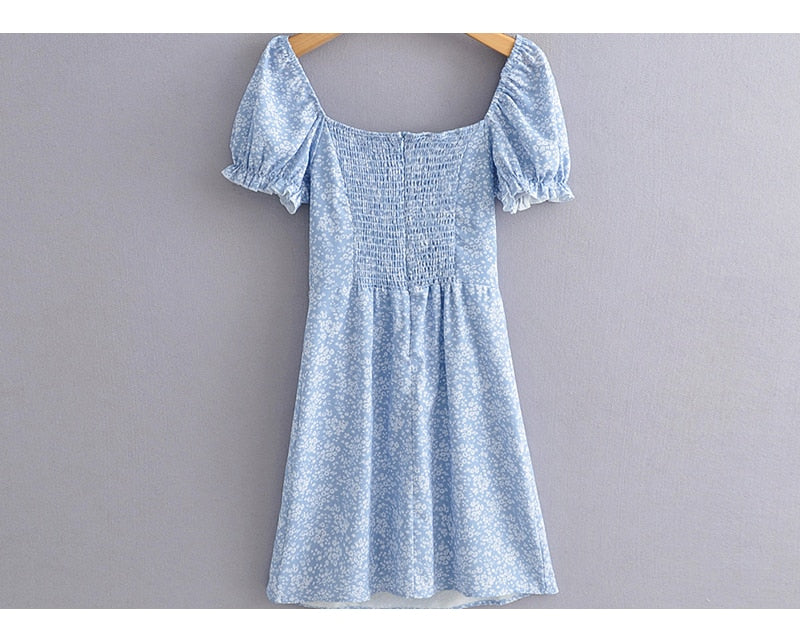 Summer Picnic Baby's Breath Mini Dress