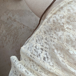 Sweet Lace Mock Neck Dress