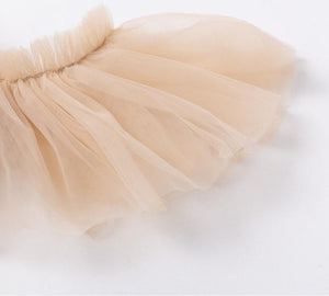 Julia Tulle Off Shoulder Ruffle Dress