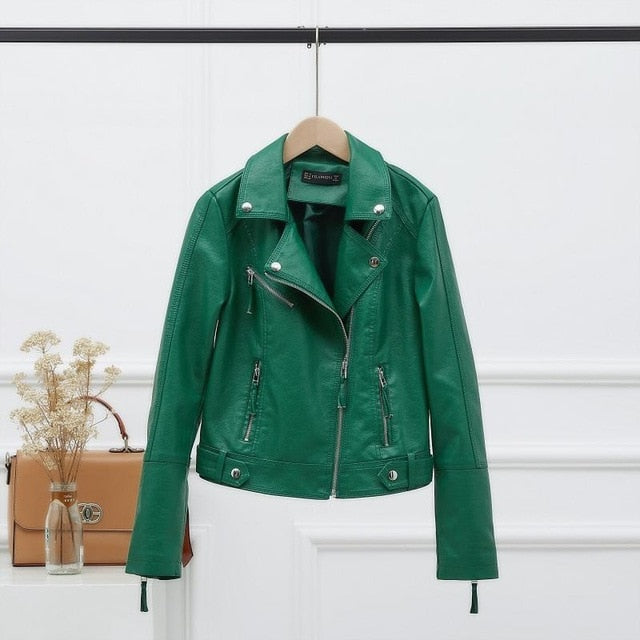 Vegan Leather Basic Moto Jacket