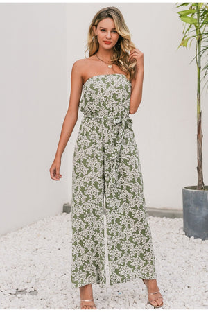 Floral Tube Wide Leg Jumpsuit
