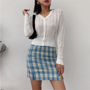 Polly Plaid Mini Skirt