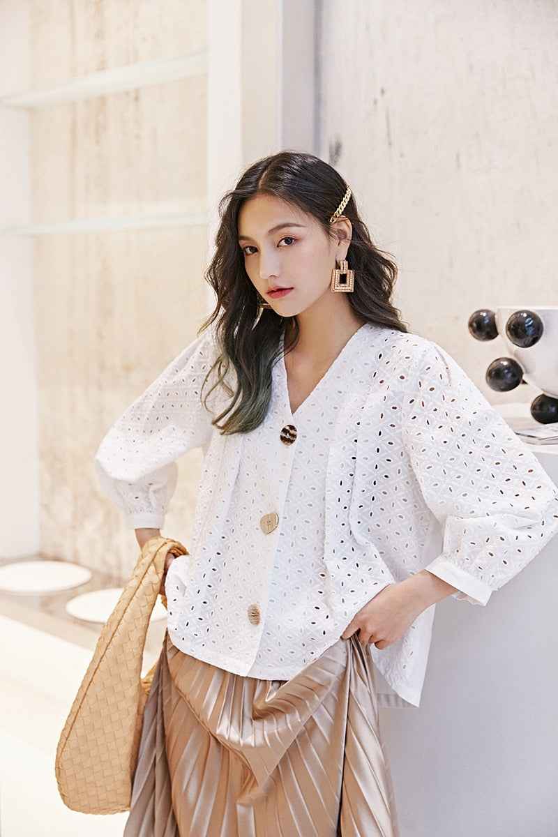 Broderie Lace Summer Jacket