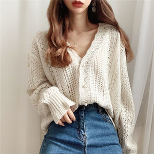 Crochet Knit Cardigan - Fall Edition