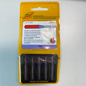 5 x Medium to Heavy 100 weight needles for Singer machines (made in Germany)