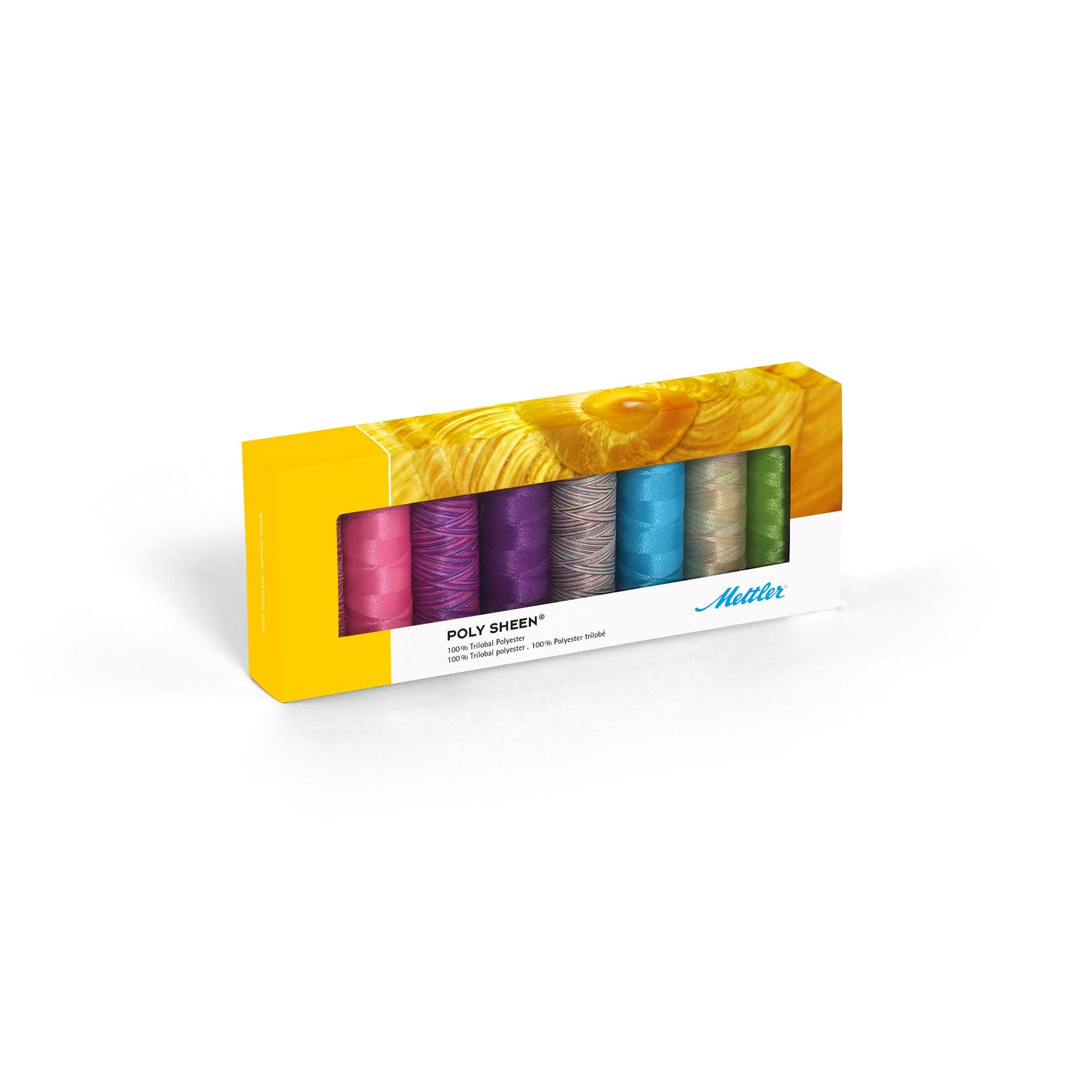 Mettler Poly Sheen Brights Kit No. 40 200m 8 spools - thread set