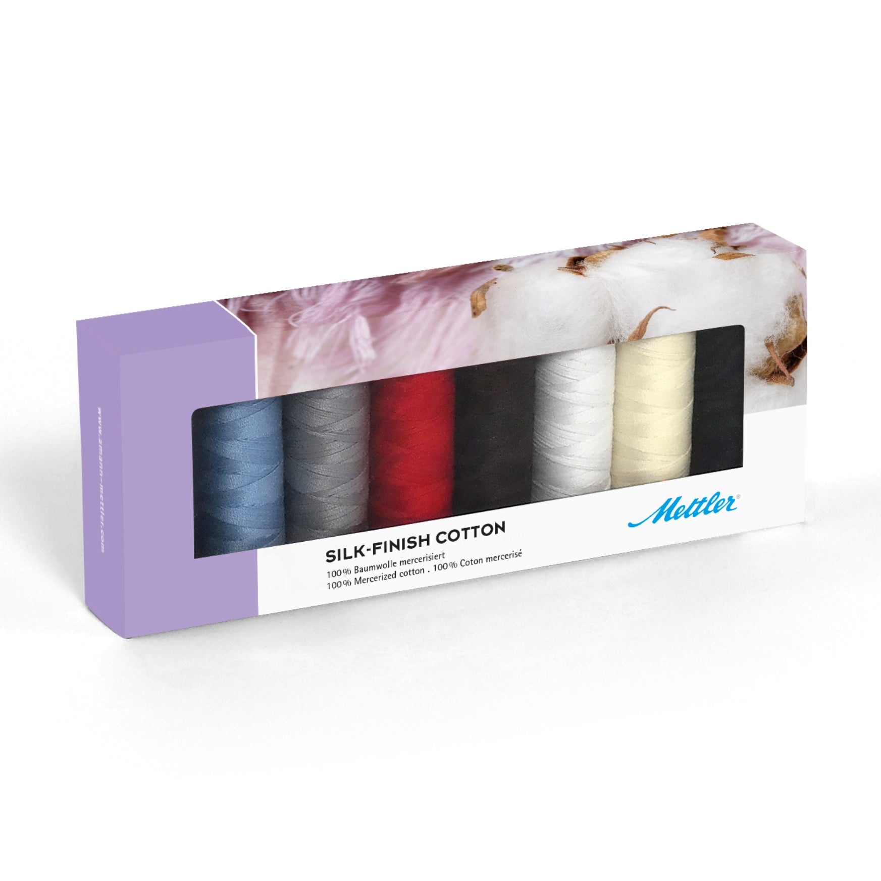 Mettler Silk-Finish Cotton No. 50 150m 8 spools - thread set