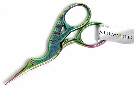 Rainbow Stork Scissors 9cm / 3.5in Scissors