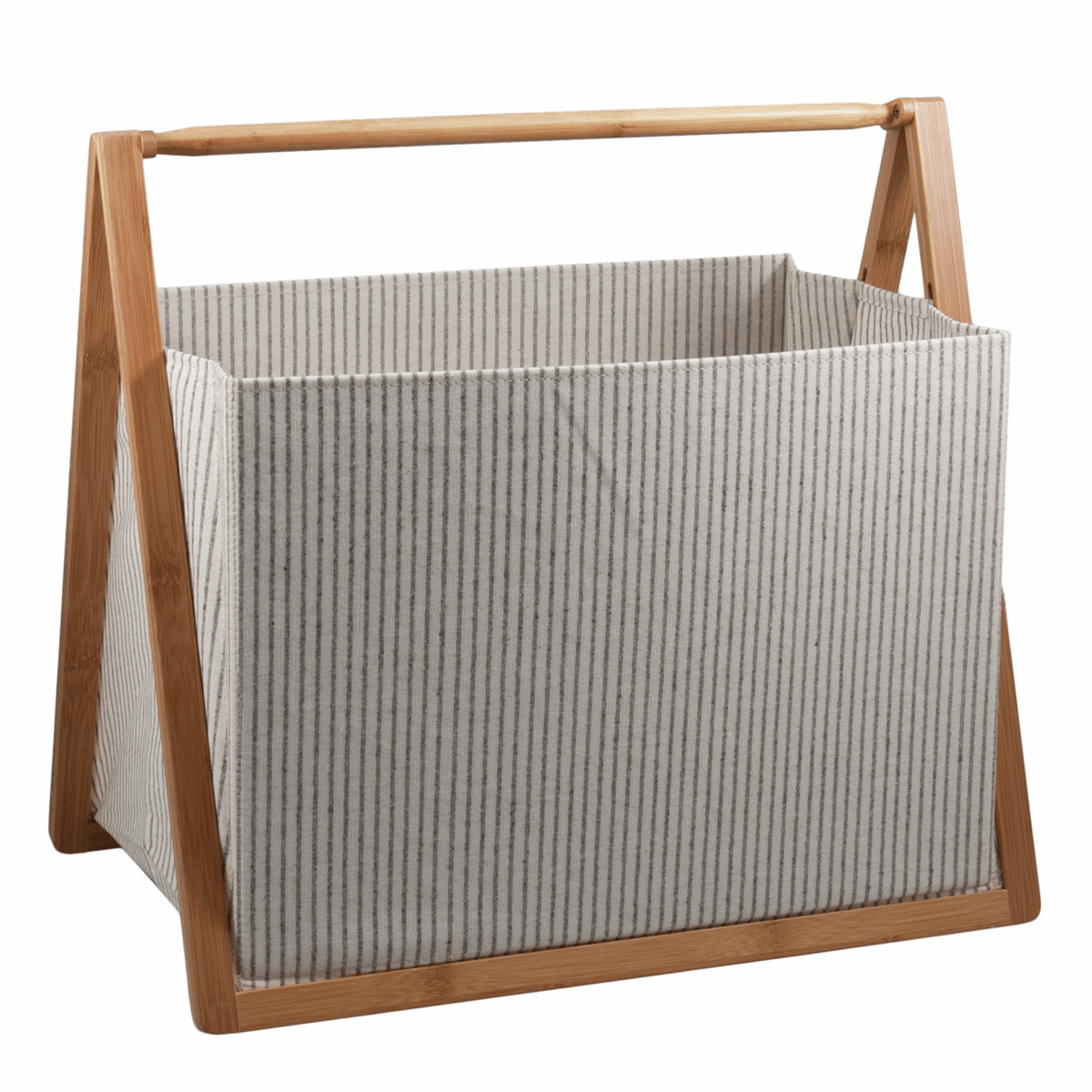 Folding Craft Storage Basket - White