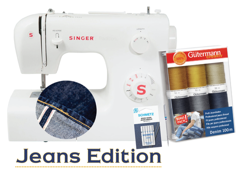 Singer Tradition Jeans Edition 2250 Sewing Machine * with Gutermann Denim Thread Pack and Jeans Needles *