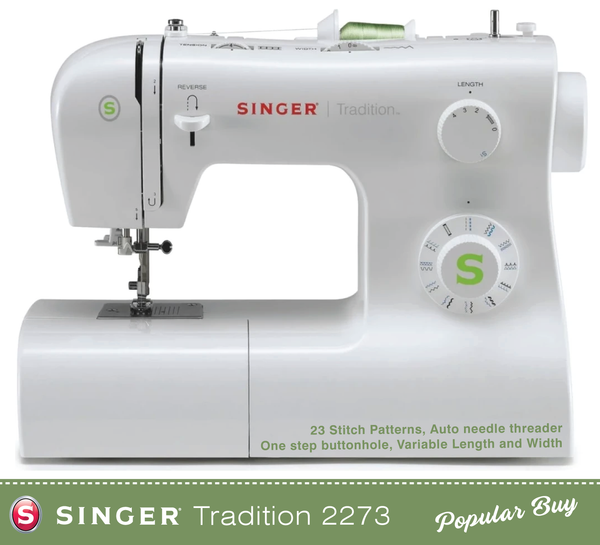 Singer Tradition 2273 Sewing Machine with 1 step buttonhole - heavy duty frame and high lift foot - Preorder for February delivery