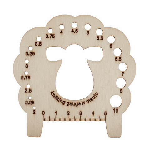 Knitting Pin Gauge - Sheep