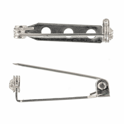 Trimits Silver Brooch Bar - 25mm (Pack of 2)