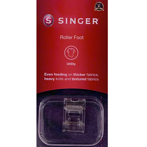 Roller Foot (for thicker fabrics and heavy knits) by Singer (in retail box)
