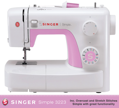 Singer Simple 3223 - Overcasting and Stretch Stitches - Preorder for February delivery
