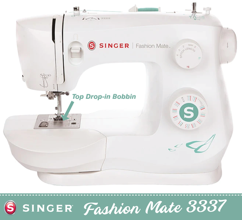Singer Fashion Mate 3337 * latest 2021 model * - Heavy Duty Metal Frame - 1 step buttonhole, Sews Silk to Leather - Preorder for December delivery