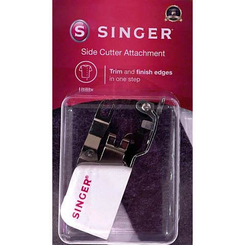 Overlocking Side Cutter Attachment for Sewing machines (trims and finish edges in one step) by Singer  (in retail box)