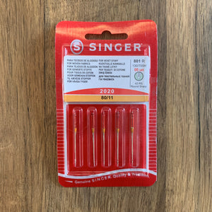 5 x Singer Lightweight Needles (2020) 80/11