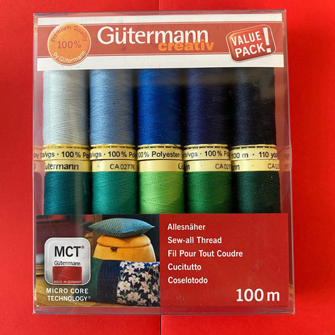 Gutermann Sew-all Thread Set - Collection 5 10 x 100m Assorted
