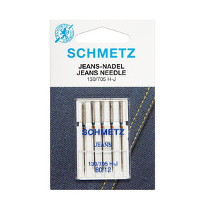 Schmetz Jeans Needles - 80 weight - 5 pack