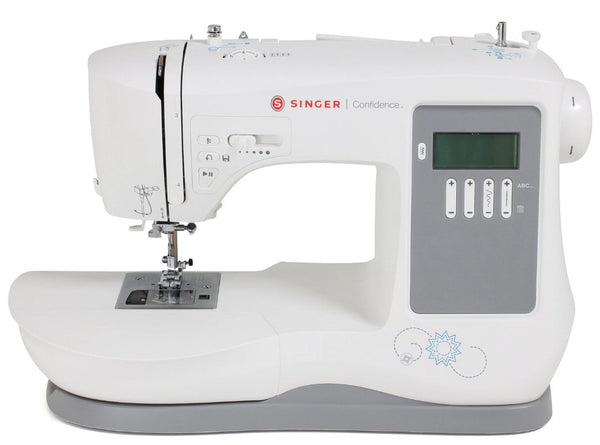 Singer Confidence 7640 * Winter Offer * - Heavy duty sewing and quilting with 200 stitch patterns with Letters and numbers * FREE Extension Table and Even Feed Walking Foot