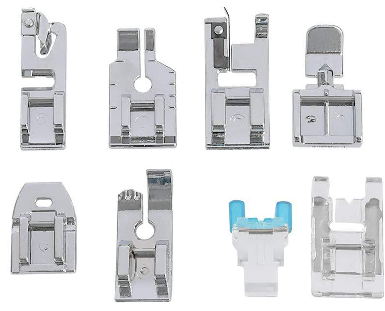 8 piece Essential Sewing Presser Foot Accessory Kit