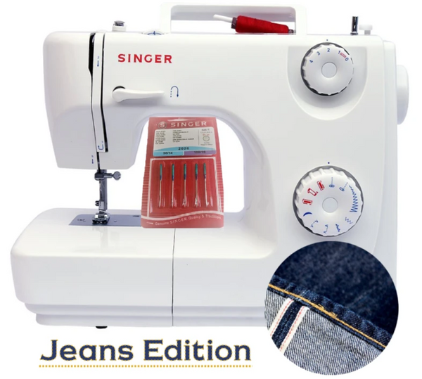 Singer Jeans Edition 82 with Denim Needle Set * Heavy duty metal frame, Sews Silk to Heavy Denim - Preorder for March
