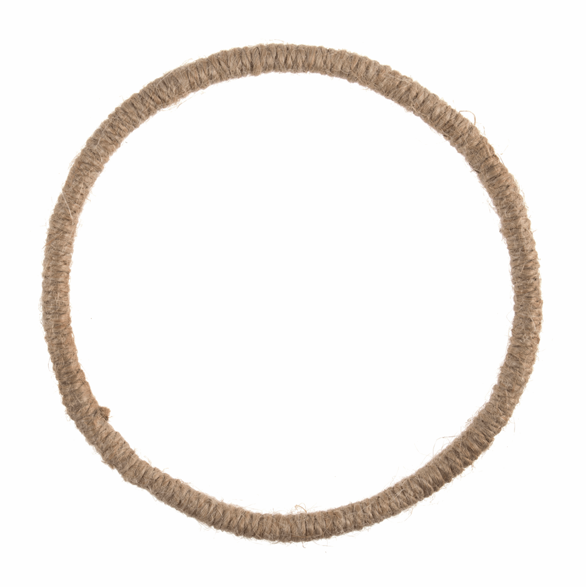 Macrame Jute Wrapped Wire Hoop Wreath Base - 14cm/5.5in
