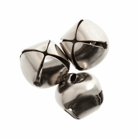Silver Jingle Bells - 15mm (Pack of 4)