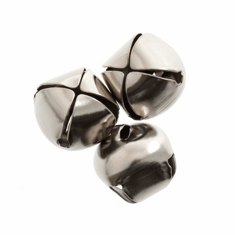 Silver Jingle Bells - 20mm (Pack of 3)
