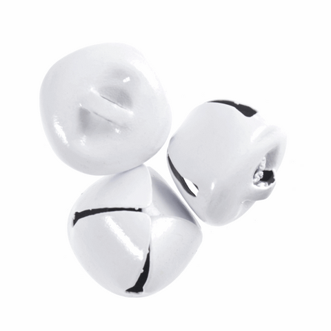 White Jingle Bells - 20mm (Pack of 3)