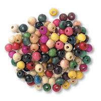 Wood Beads 8mm Assorted Packs of 150