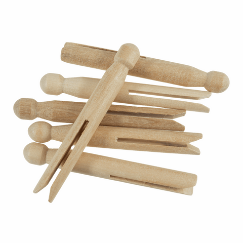 Wooden Dolly Pegs (Pack of 6)