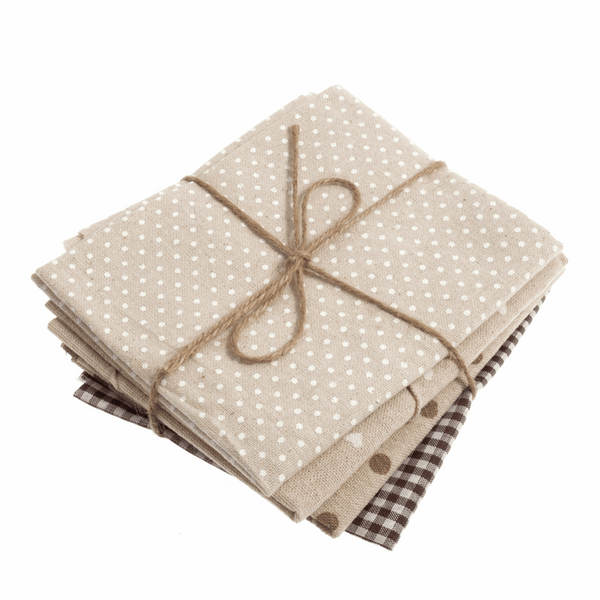 Fat Quarter Pack - Brown / Natural - (4 Pieces)