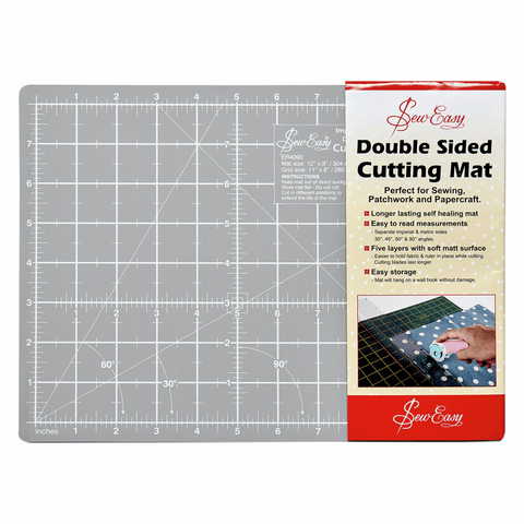 A4 Self Healing Cutting Mat - 30 x 20cm - Grey and Black