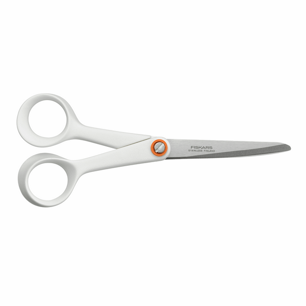 Fiskars General Purpose: Functional Form Scissors - White: 17cm/6.7in