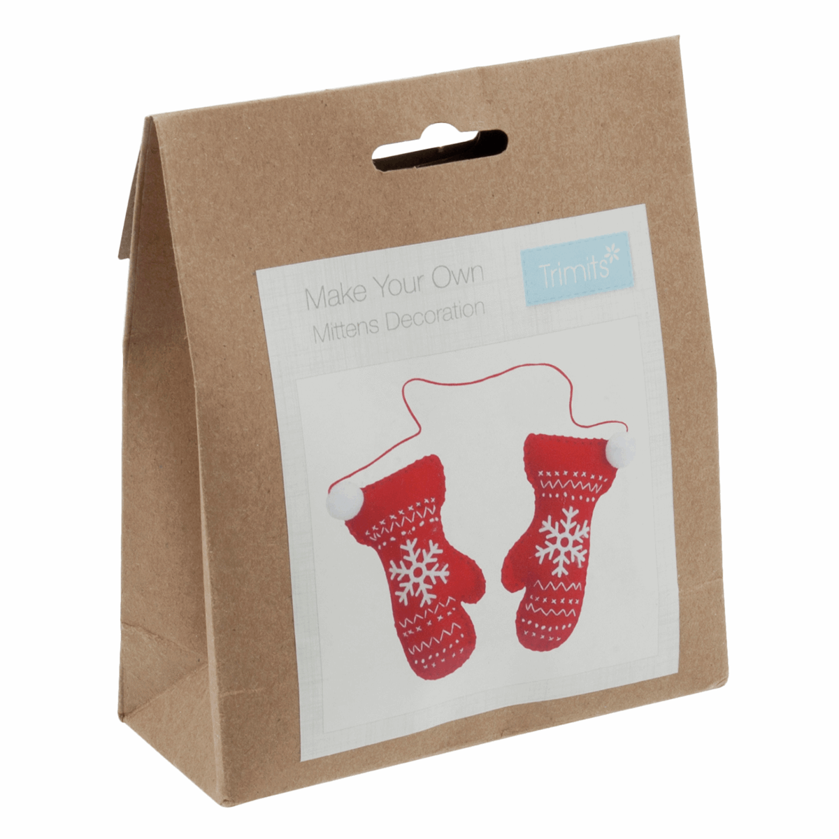 Felt Decoration Kit: Christmas: Pair of Mittens * Clearance *