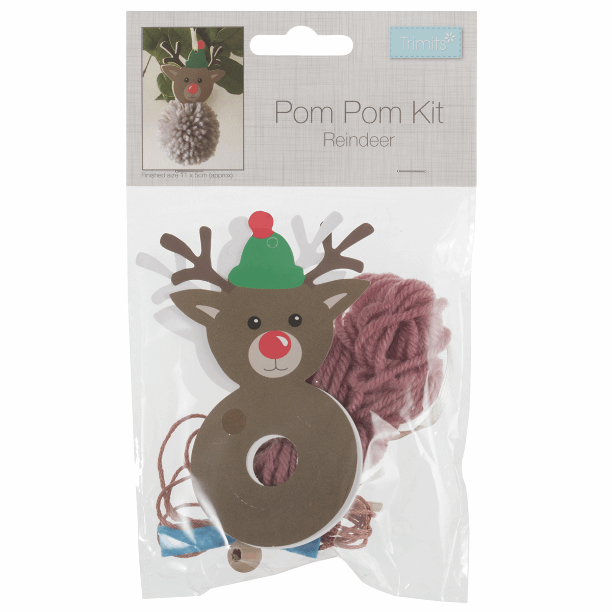 Pom Pom Decoration Kit - Reindeer